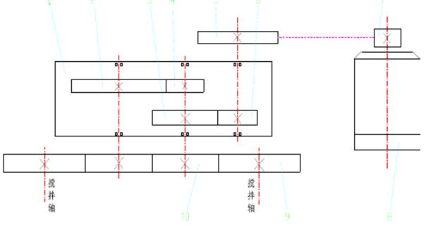 看图分析js双卧轴搅拌机内部结构